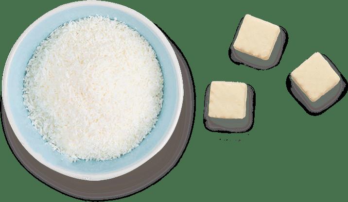 Kokos činija i kockice
